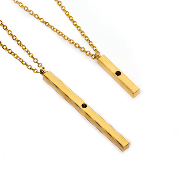 Mustard Seed Bar Necklaces - Gold - Bundle - Timelapse Co.