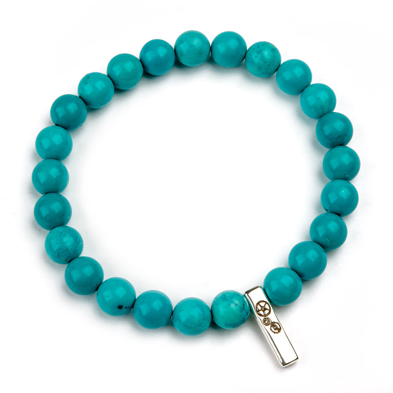 Turquoise Baby Bar Stretch Bracelet - Timelapse Co.