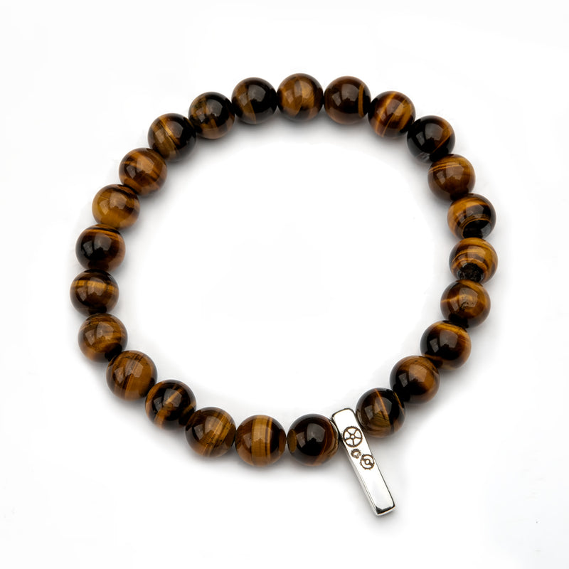 Tiger's Eye Baby Bar Stretch Bracelet - Timelapse Co.