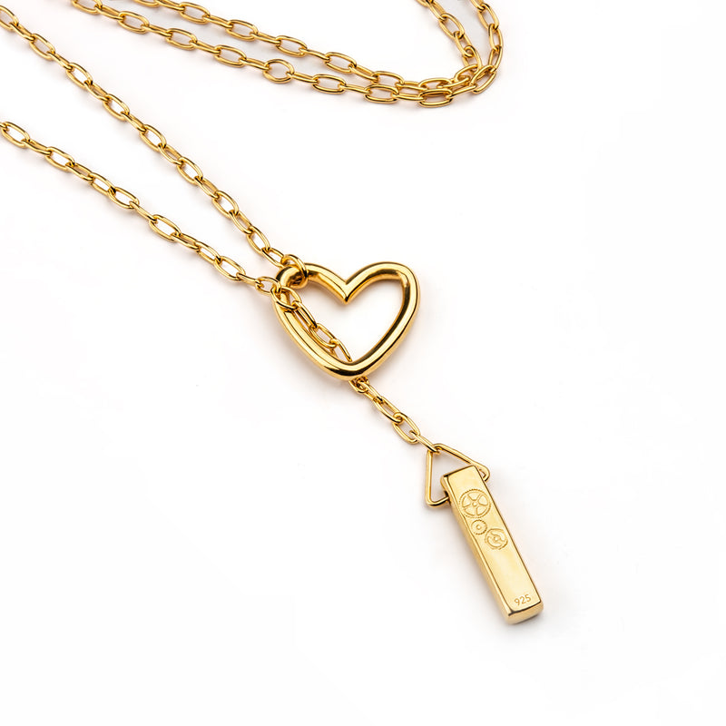 The Baby Bar - Heart Lariat Necklace