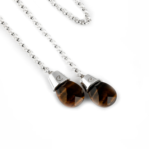 Double-End Body/Face Chain - Tiger's Eye - Timelapse Co.