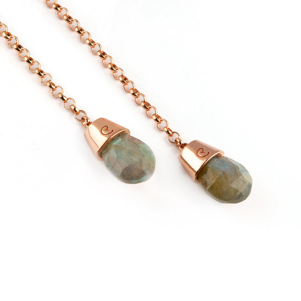 Double Ended Body/Face Chain - Labradorite (Rose Gold) - Timelapse Co.