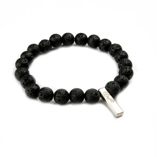 Lava Stone Baby Bar Stretch Bracelet