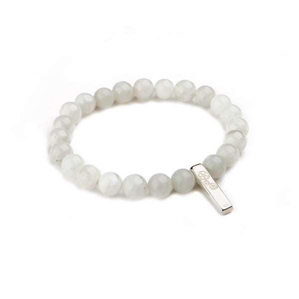 Moonstone Baby Bar Stretch Bracelet