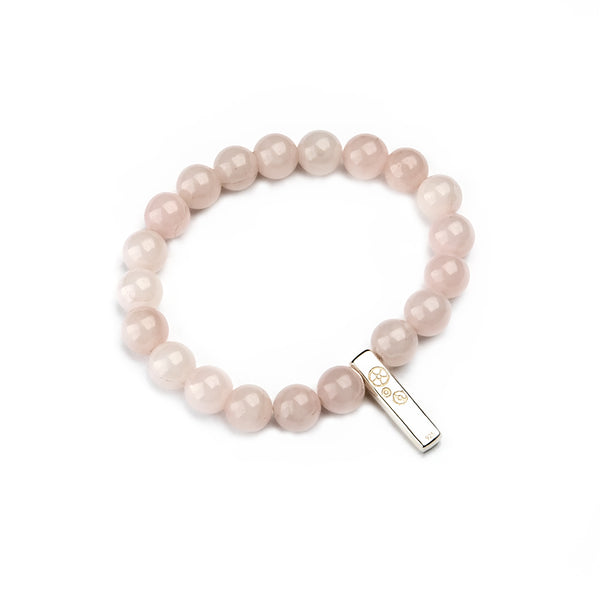 Rose Quartz Baby Bar Stretch Bracelet
