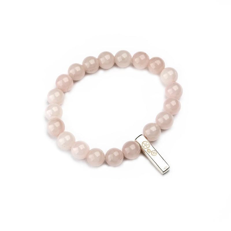 Rose Quartz Baby Bar Stretch Bracelet - Timelapse Co.