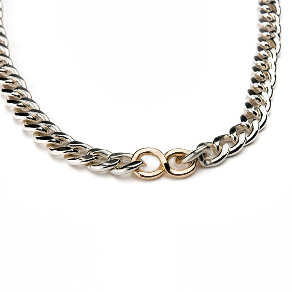14k Gold Infinity Cuban Link Necklace
