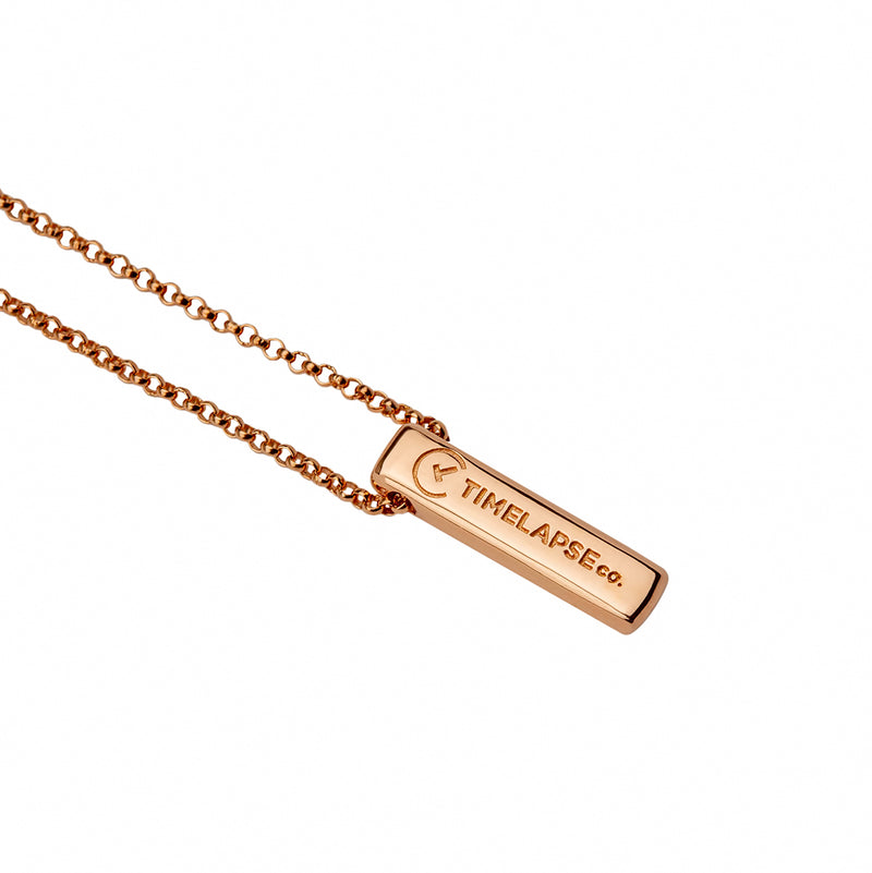 The Baby Bar Necklace - Rose Gold