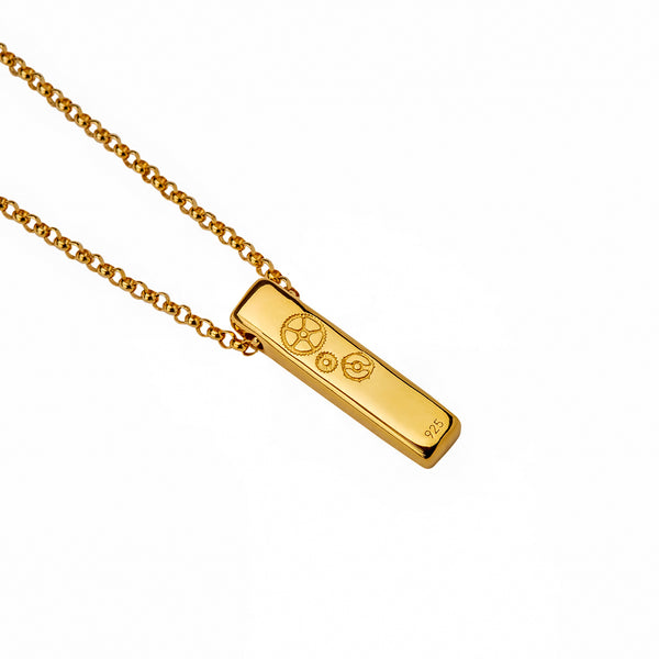 The Baby Bar Necklace - Yellow Gold - Timelapse Co.