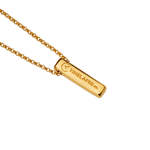 The Baby Bar Necklace - Yellow Gold