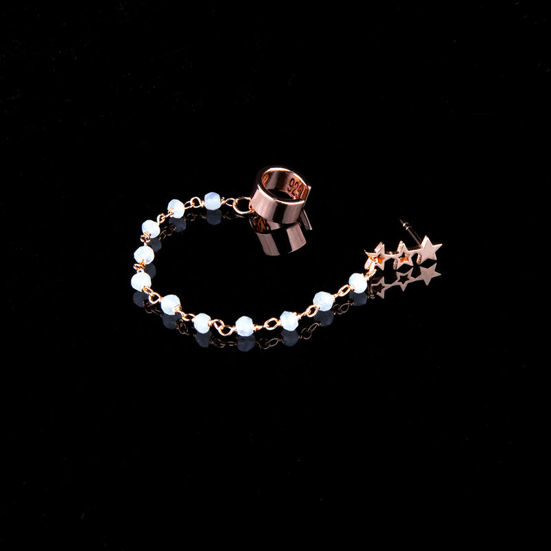 Moonstone Ear Cuff by Kara Royster (Rose Gold) - Timelapse Co.