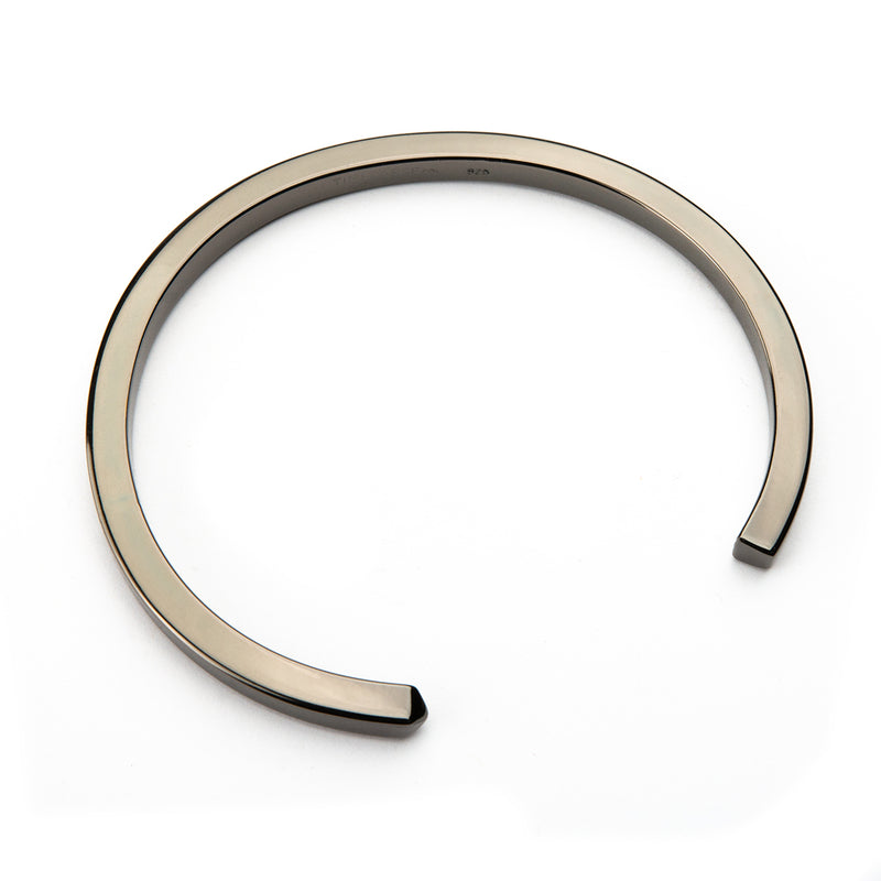 The Circle Bangle - Jet Black - Thick - Timelapse Co.