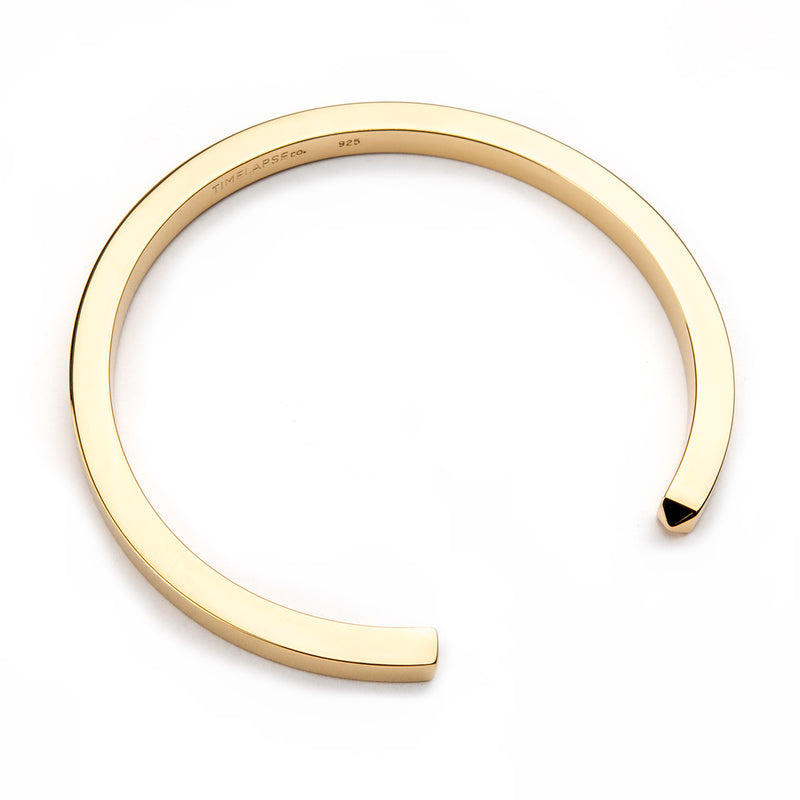 The Circle Bangle - Yellow Gold - Thick - Timelapse Co.