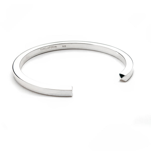 The Circle Bangle - Polished Silver - Thick - Timelapse Co.