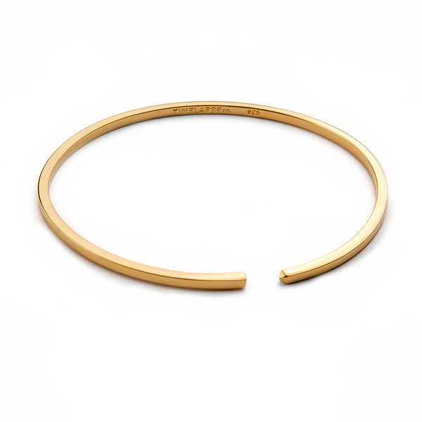 The Circle Bangle - Yellow Gold - Thin - Timelapse Co.