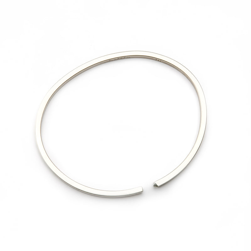 The Circle Bangle - Satin - Thin - Timelapse Co.