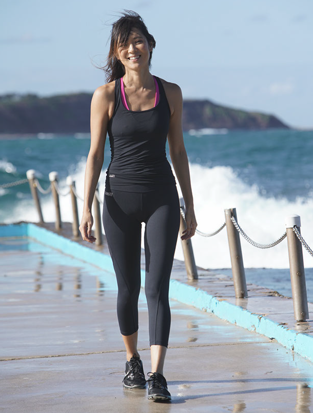Image of model wearing Brasilfit Activewear Alexandria Leggings