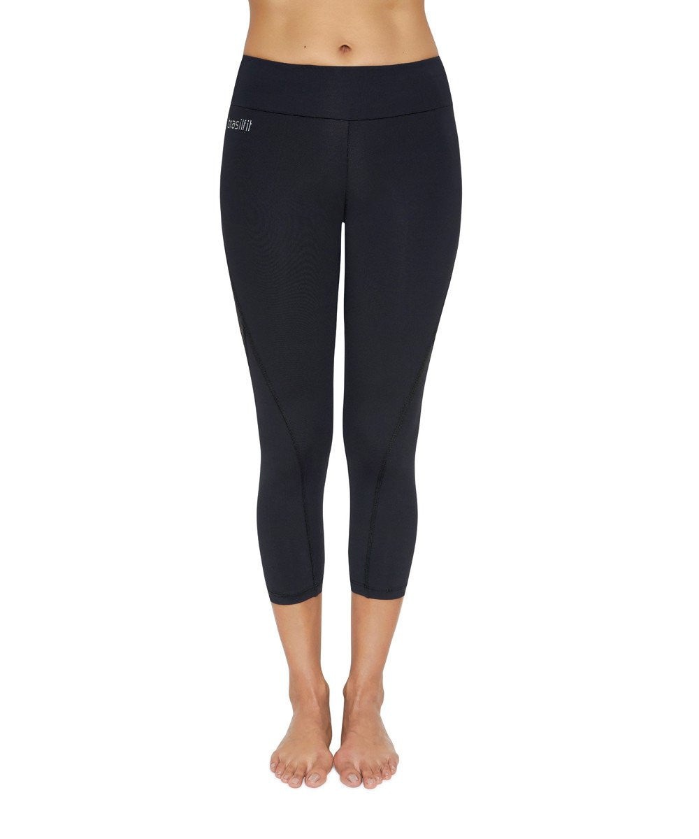 Side view product image for Brasilfit Xtreme calf length activewear leggings. Brasilfit's Xtreme fabric is one of our premium fabrics. Xtreme leggings are part of our essentials and basics activewear collection that is focused on high compression, performance activewear.