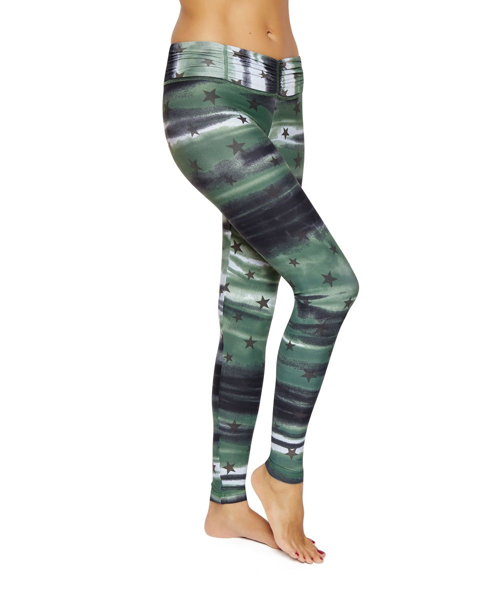 Product image for Brasilfit Coregam full length activewear leggings.  Coregam leggings are part of our Crazy prints activewear collection that is focused on performance activewear with colourful prints