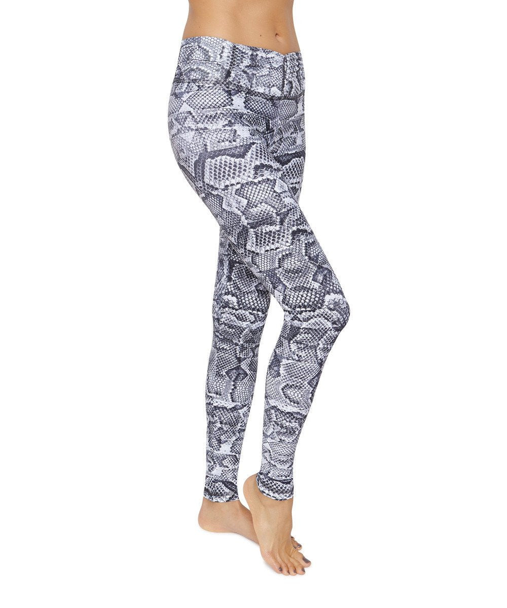 Product image for Brasilfit Cobra full length activewear leggings.  Cobra leggings are part of our Crazy prints activewear collection that is focused on performance activewear with colourful prints