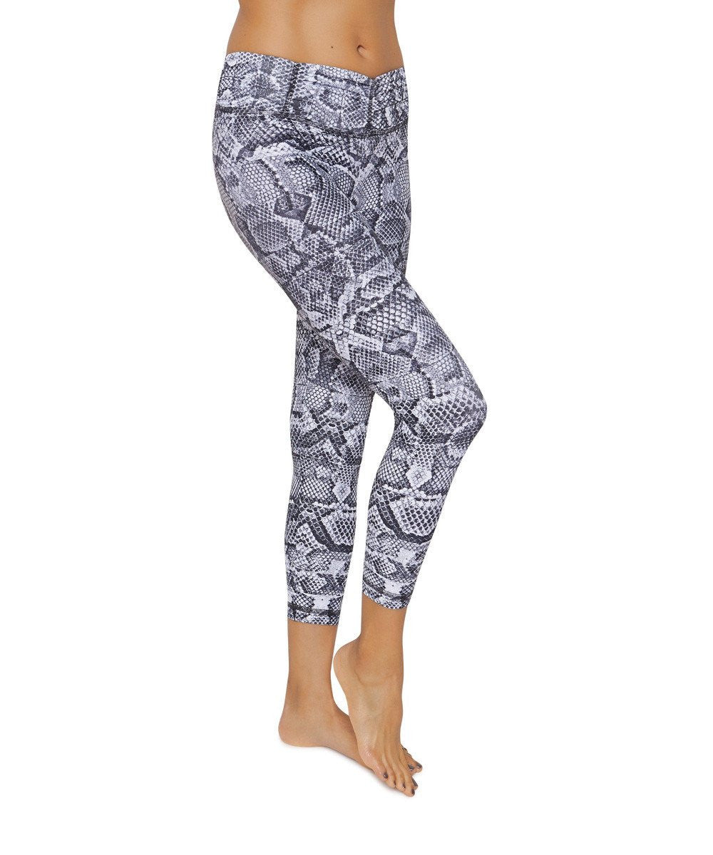 Product image for Brasilfit Cobra calf length activewear leggings.  Cobra leggings are part of our Crazy prints activewear collection that is focused on performance activewear with colourful prints