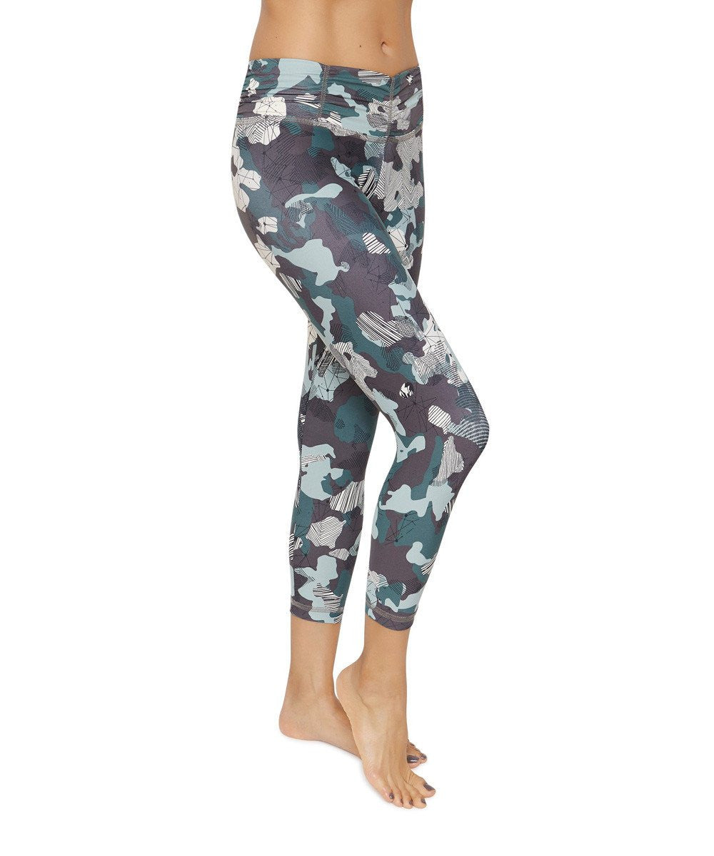 Product image for Brasilfit Hero calf length activewear leggings.  Hero leggings are part of our Crazy prints activewear collection that is focused on performance activewear with colourful prints