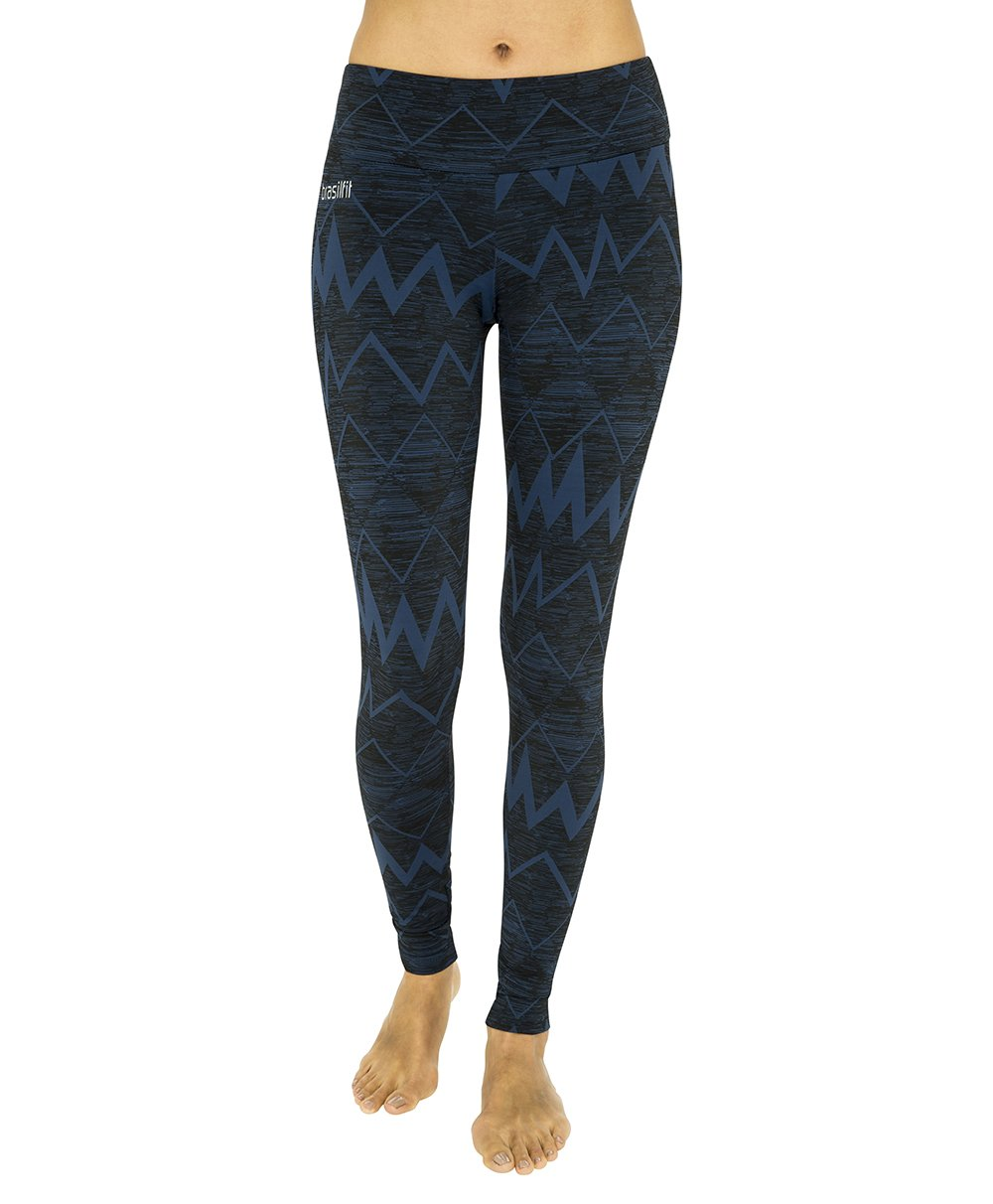 Side view product image for Brasilfit Jupiter Full Length activewear leggings.  Jupiter leggings are part of our textured activewear legging collection that is focused on performance, high compression activewear.