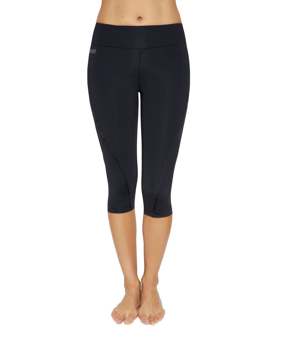 Side view product image for Brasilfit Xtreme under knee activewear leggings. Brasilfit's Xtreme fabric is one of our premium fabrics. Xtreme leggings are part of our essentials and basics activewear collection that is focused on high compression, performance activewear.