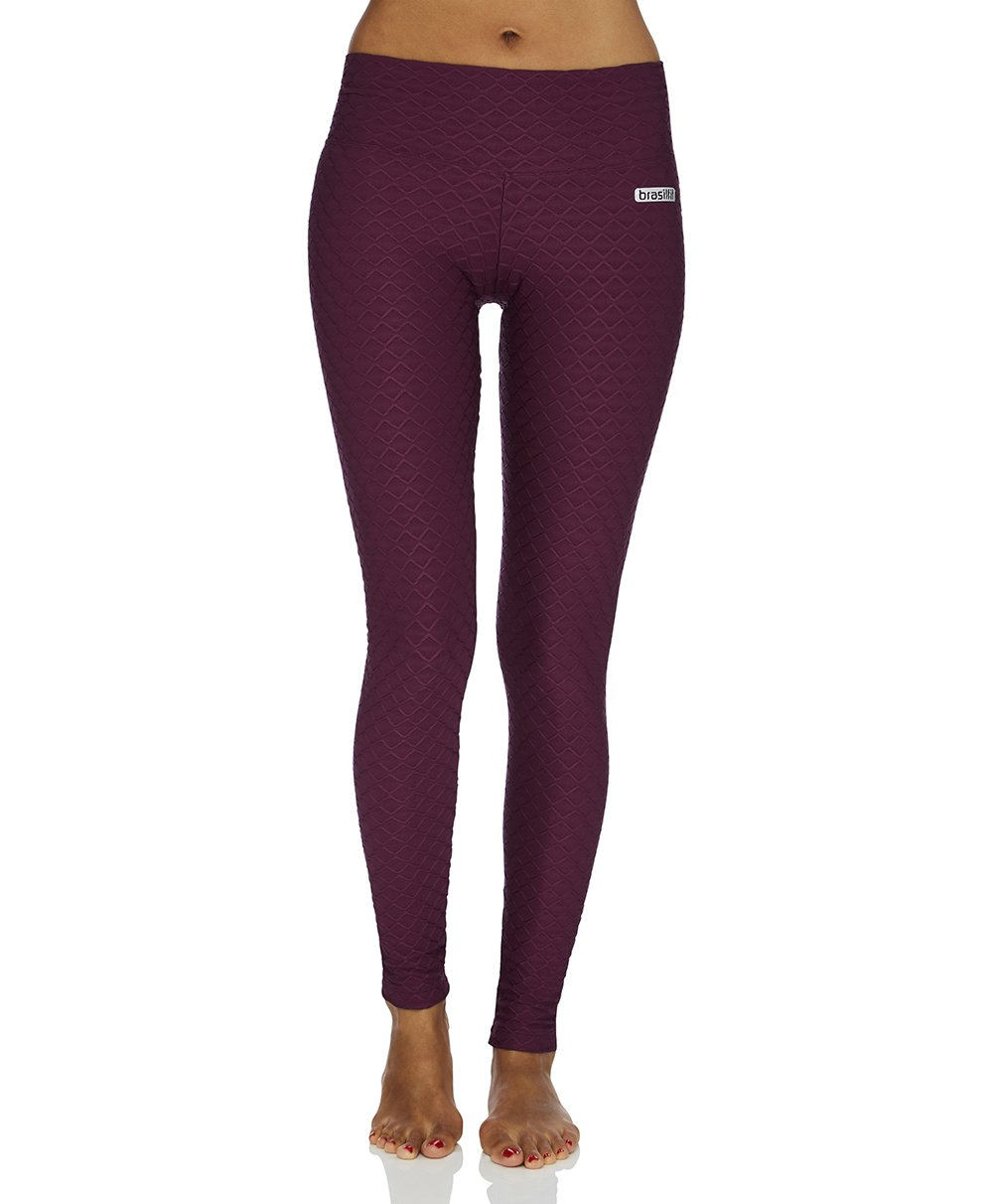 Wallpaper Full Length Legging - Plum