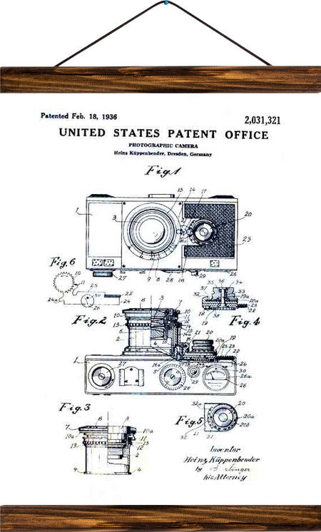 Camera patent, reprint on linen - Josef und Josefine