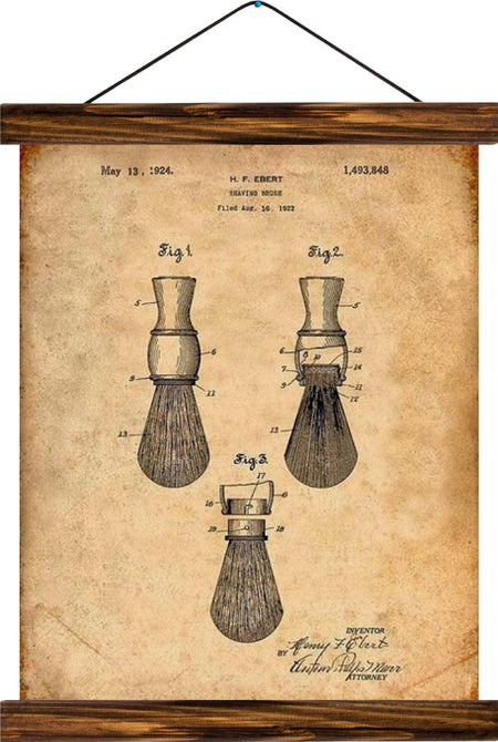 Brush patent, reprint on linen - Josef und Josefine