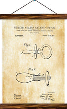 Pacifier patent , reprint on linen