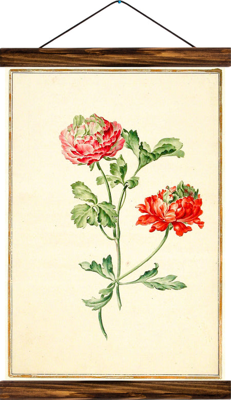 Peony, reprint on linen - Josef und Josefine