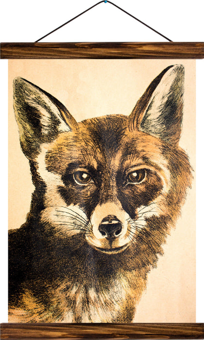 Fox, reprint on linen - Josef und Josefine