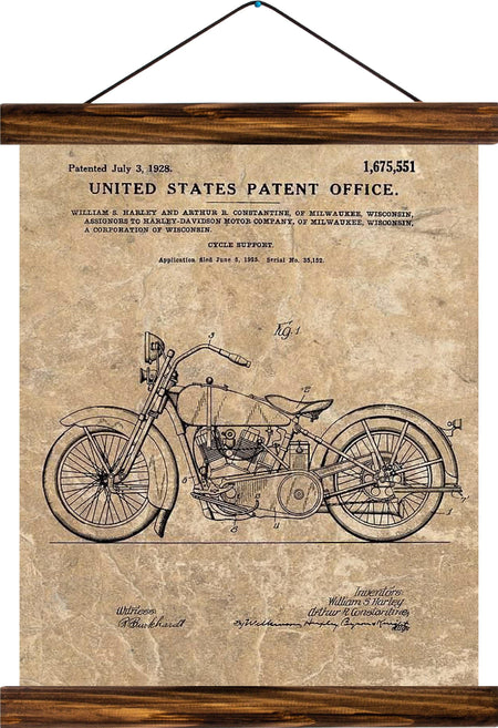 Cycle support patent, reprint on linen - Josef und Josefine