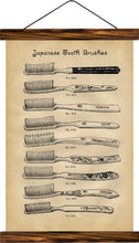 Tooth brushes, reprint on linen