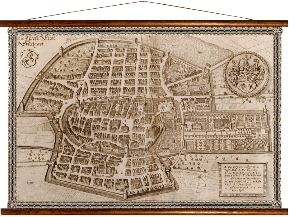 Stuttgart, reprint on linen - Josef und Josefine