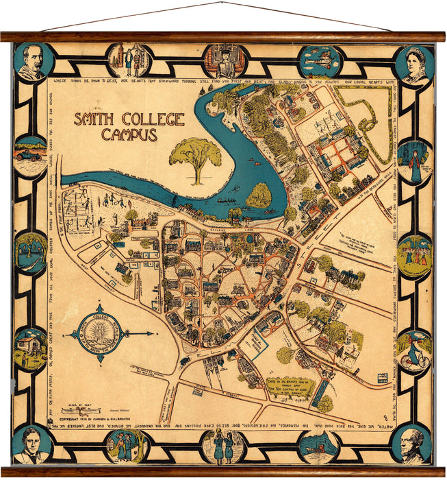Smith college campus, reprint on linen - Josef und Josefine