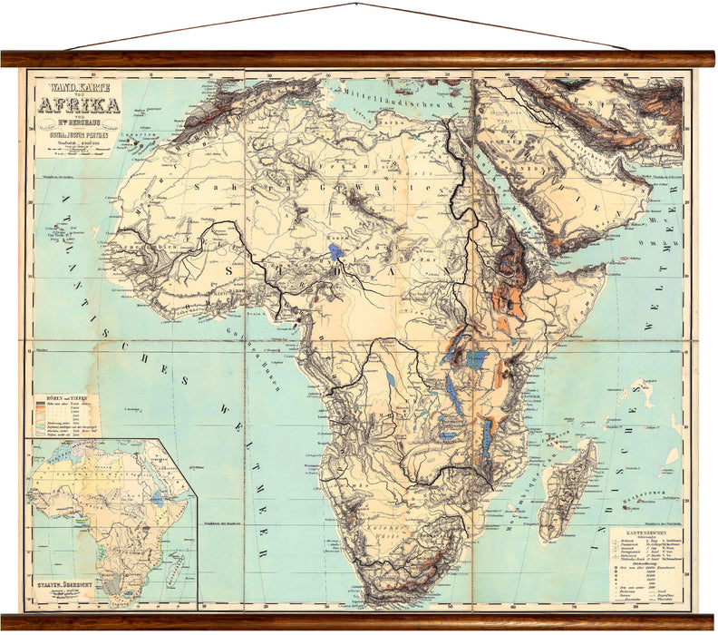 Africa, reprint on linen - Josef und Josefine
