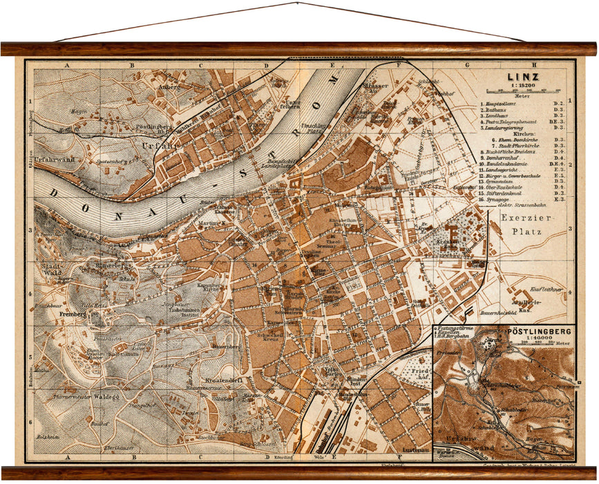Linz, reprint on linen - Josef und Josefine