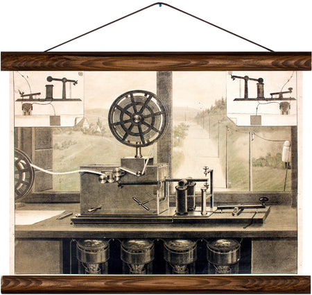 Morse device, reprint on linen - Josef und Josefine