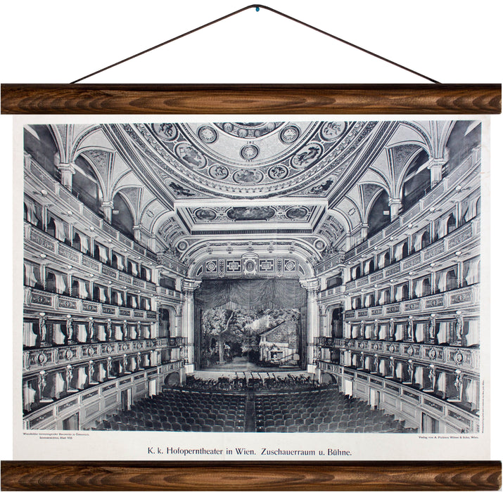 Hofoperntheater in Wien, reprint on linen