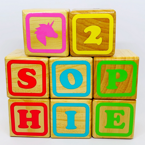 Personalised Large Wooden Name Blocks