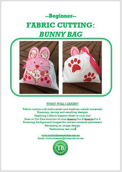 LEARN TO SCAN'n CUT KIT (CM SERIES) - FABRIC BUNNY BAG