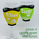 Personalised Caravan & Camping Wine & Champagne Glass Cooler