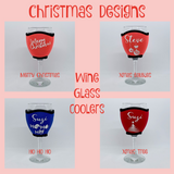 Personalised Christmas Wine & Champagne Glass Coolers