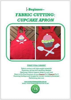 LEARN TO SCAN'n CUT KIT (CM SERIES) - FABRIC CUPCAKE APRON