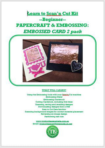 LEARN TO SCAN'n CUT KIT - 2 PACK EMBOSSED CARDS