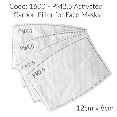 Face Mask Filters Certified PM2.5 Carbon Activated - Pack 10