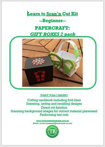 LEARN TO SCAN'n CUT KIT - 2 PACK GIFT BOXES